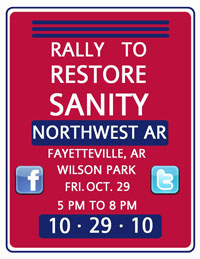 NWA Rally to Restore Sanity poster