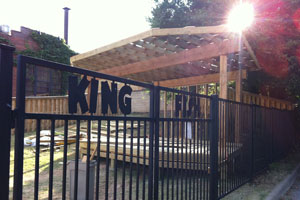 A new outdoor stage opens at Kingfish soon.