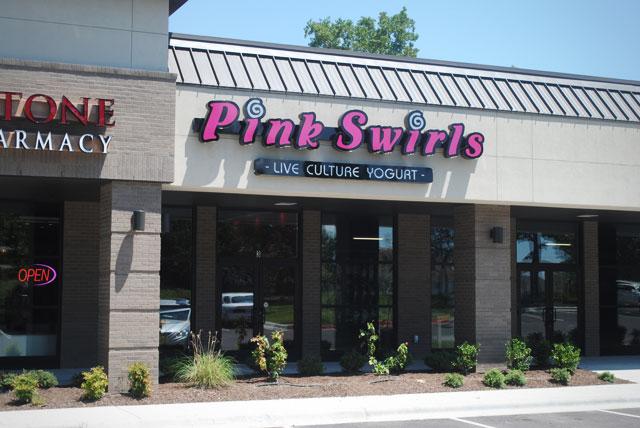 Swirls Yogurt Pink Swirls Frozen Yogurt