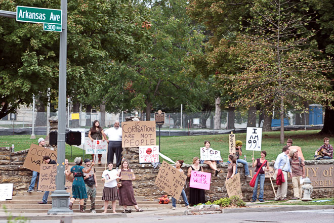 occupy nwa plans oct 15 protest for downtown fayetteville