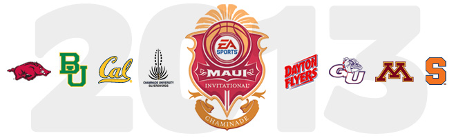 The Arkansas men's basketball team is on the schedule to play in the EA Sports Maui Invitational in November 2013.
