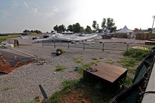 Strong Winds Cause Damage At Arkansas Music Pavilion