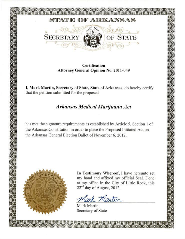 Arkansas voters to decide on medical marijuana act Nov. 6 ...