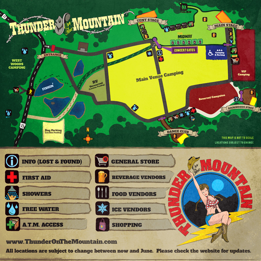 Country Thunder Campsite Map Country Thunder Campsite Map | Color 2018