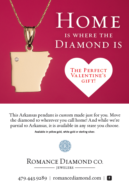 The Perfect Valentines Gift The Arkansas Pendant From
