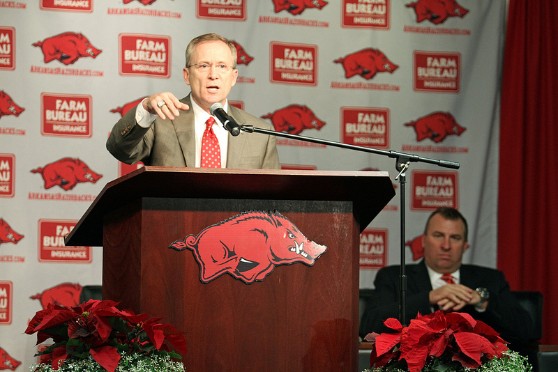 Jeff Long out as Arkansas athletic director, Julie Cromer Peoples named interim