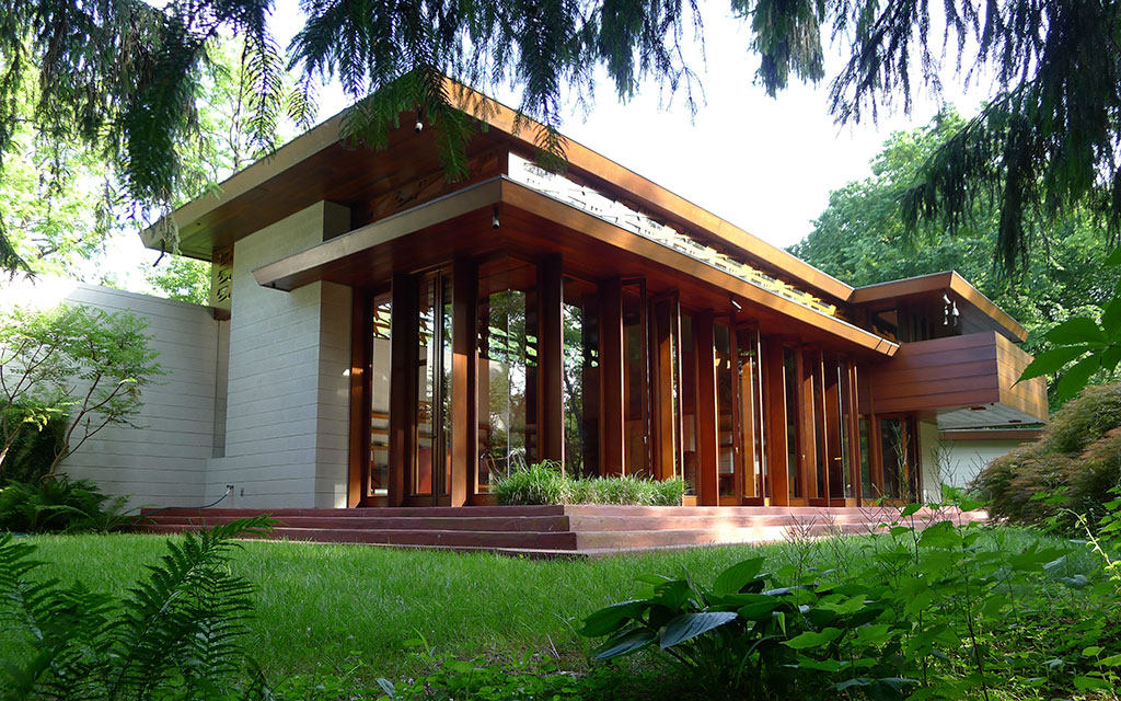 Crystal bridges bought a frank lloyd wright house and for Frank lloyd wright usonian home plans