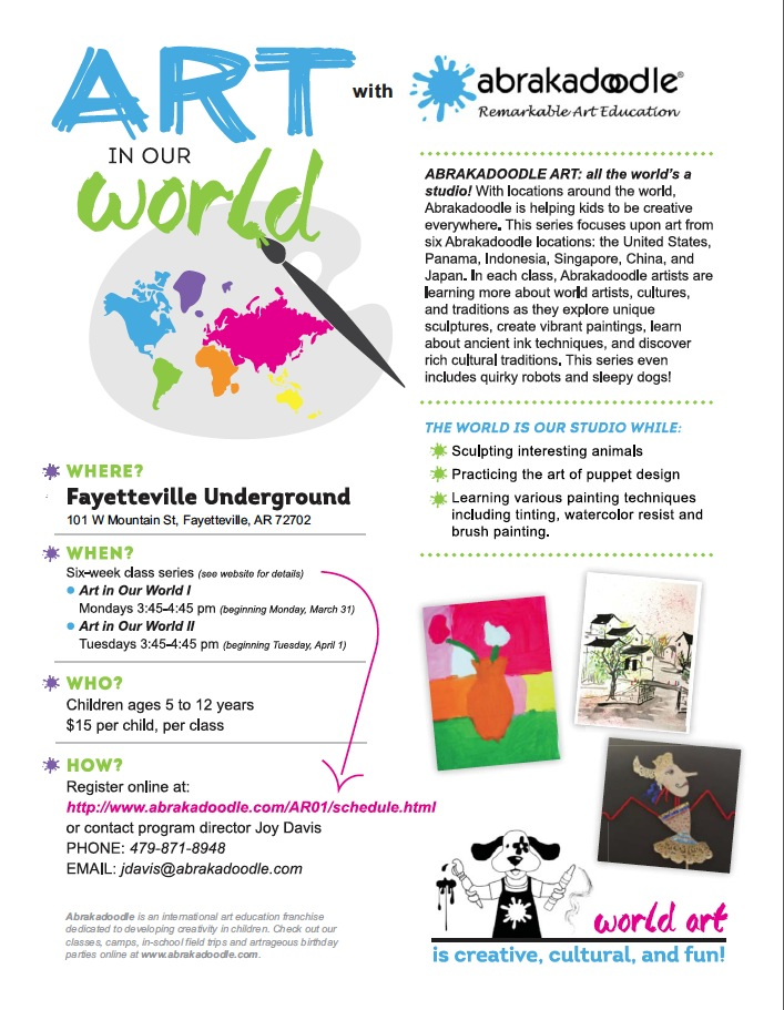 Abrakadoodle Partners With The Fayetteville Underground To