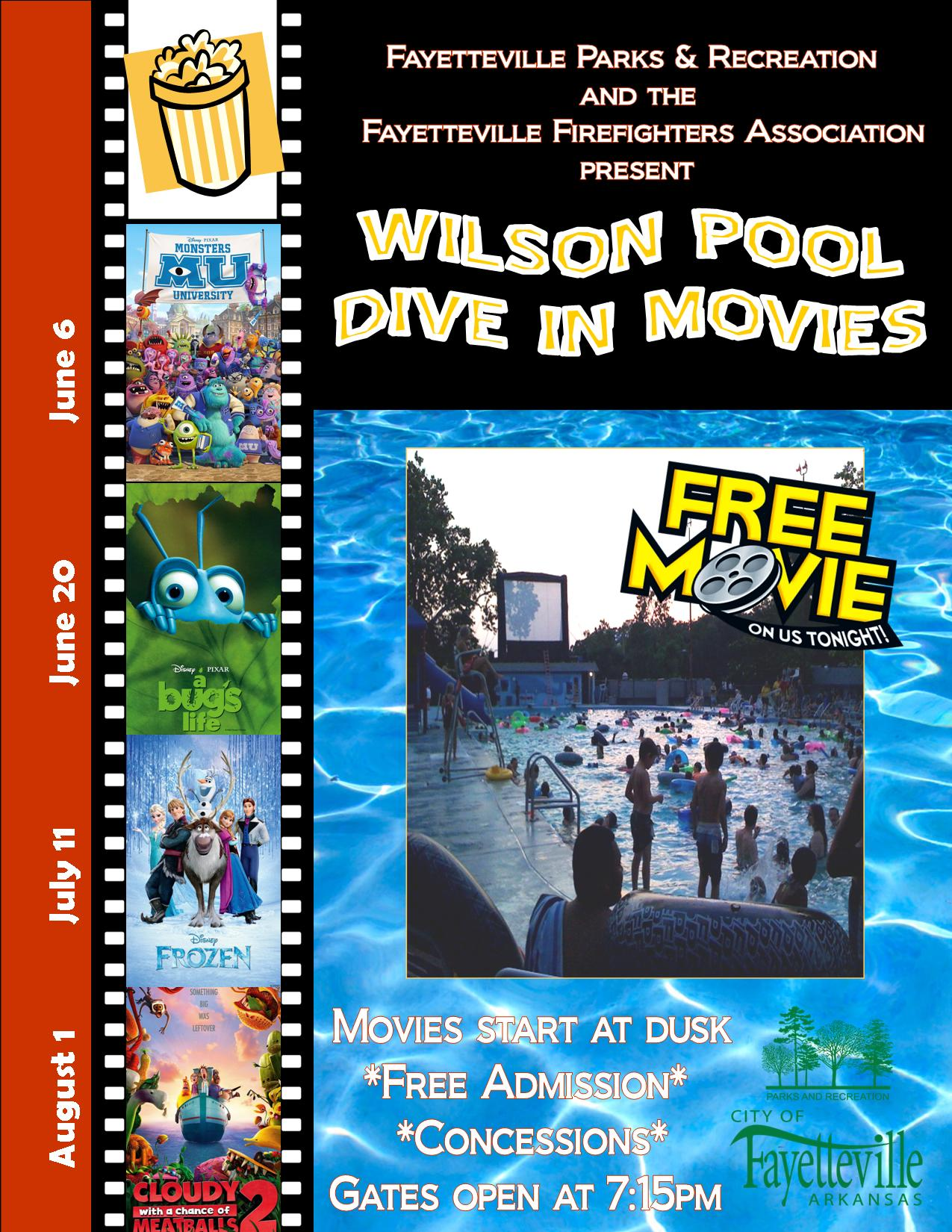 Wilson park pool to open june 6 with first dive in movie fayetteville flyer - Dive in movie ...