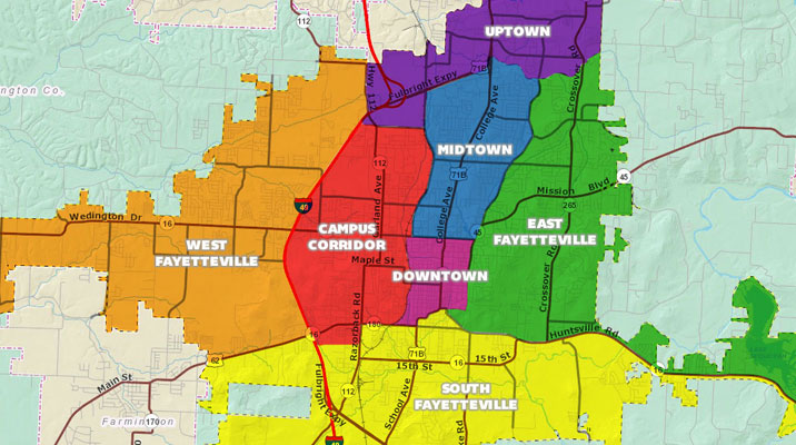 Fayetteville City Council Districts