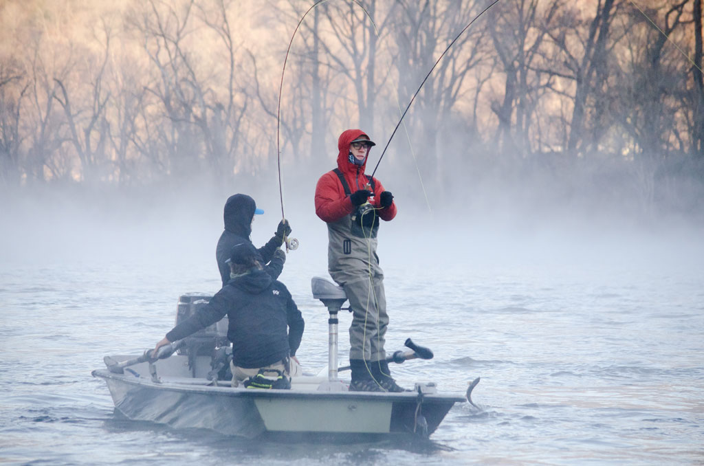 Frigid weather sets the stage for world class fishing in for Fishing in cold weather