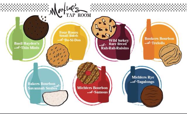 maxine�s tap room to host whiskey and girl scout cookie