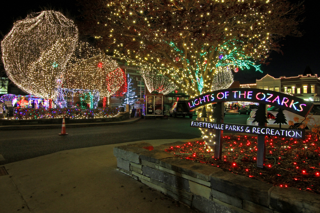 lights of the ozarks brings festive glow to downtown