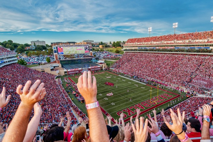 ua announces football ticket price changes for 2016