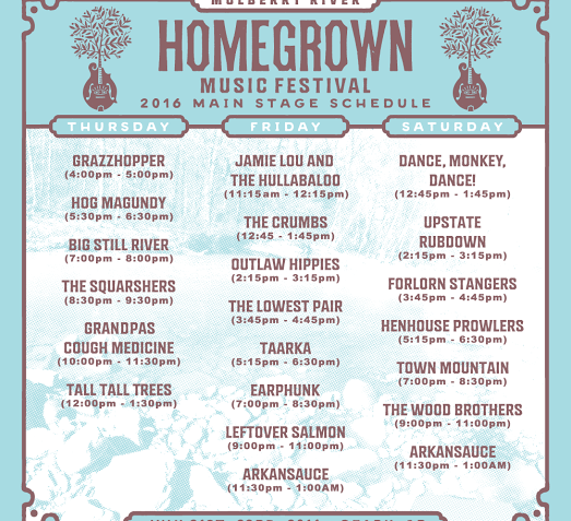 Giveaway Full Weekend Passes To Homegrown Music Festival