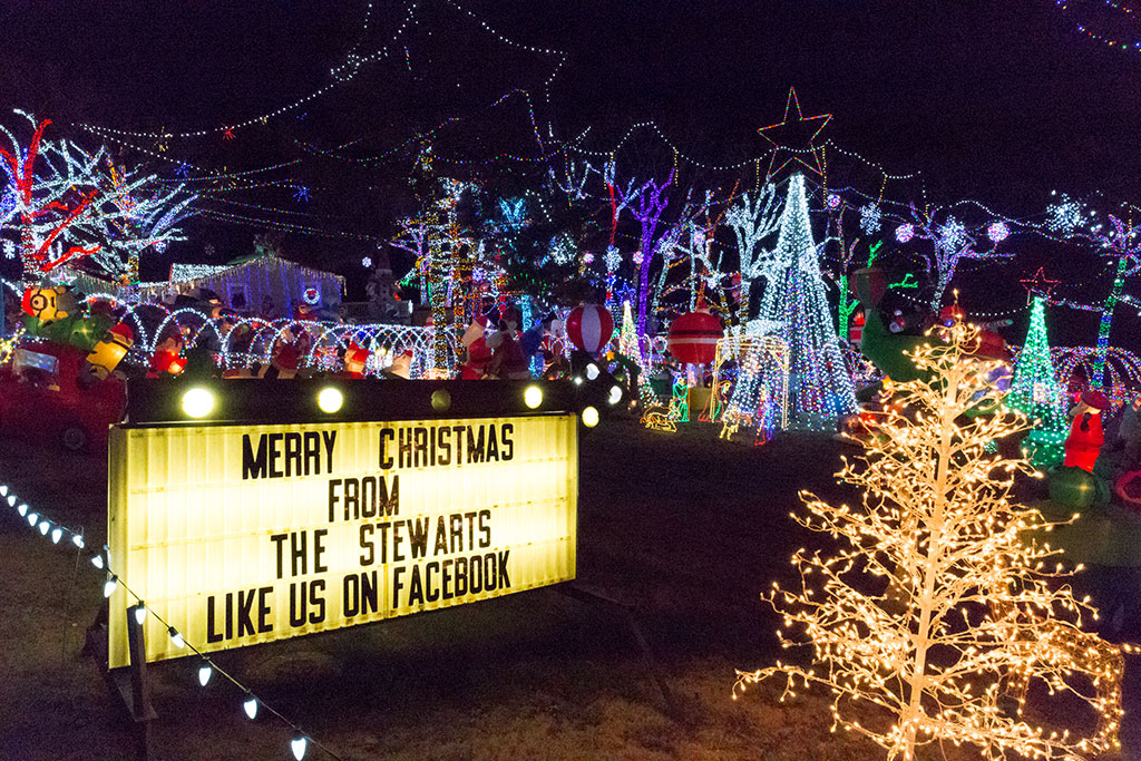 4229 e wyman road by building a truly vibrant christmas light display that they open free to the public nightly from 530 to 10 pm through jan 1st