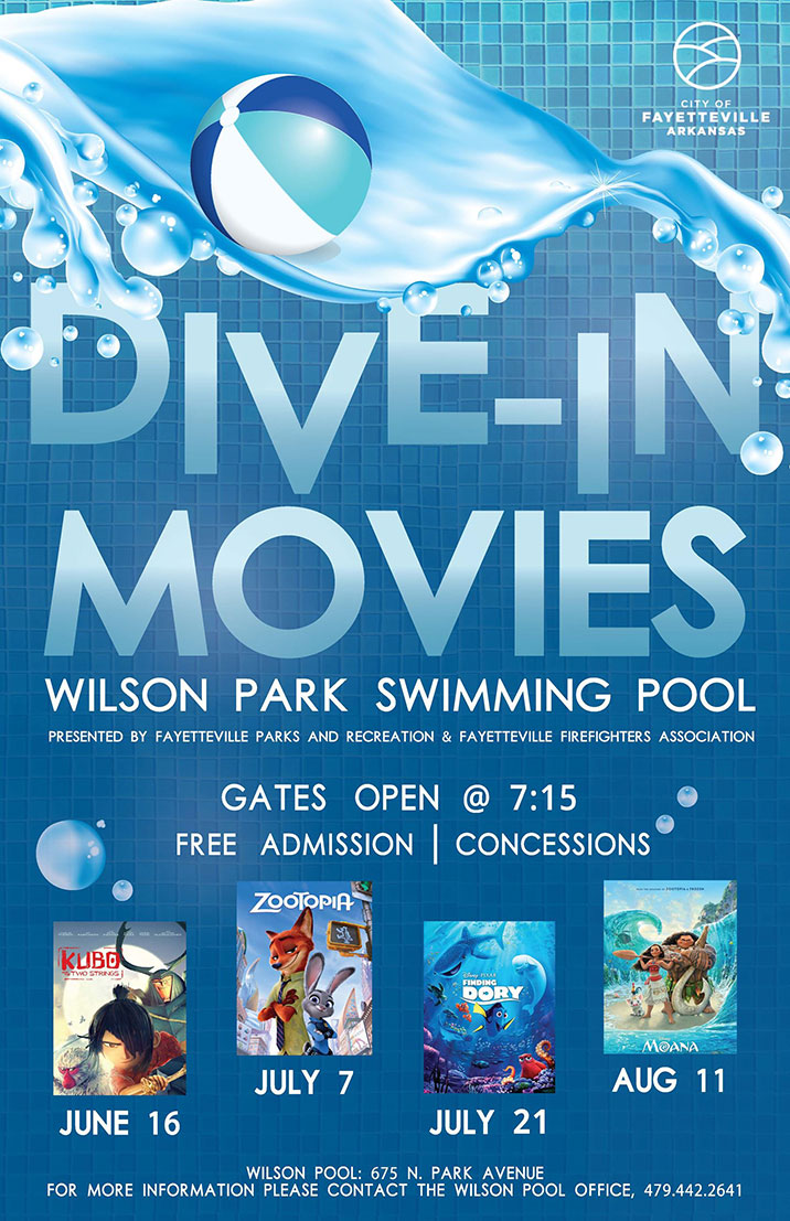 Free movies at wilson park pool begin june 16 fayetteville flyer - Dive in movie ...
