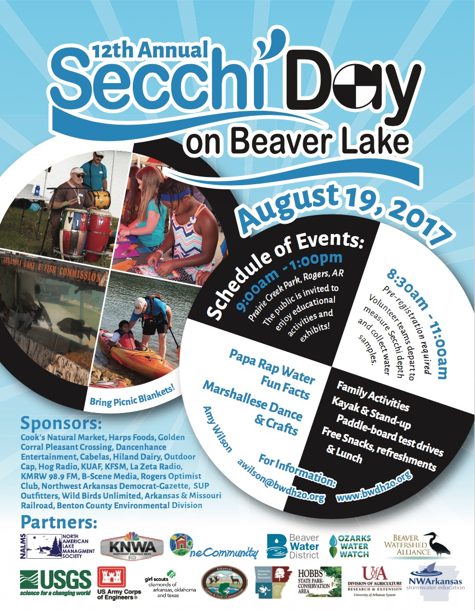 12th annual secchi day set for aug 19 at beaver lake