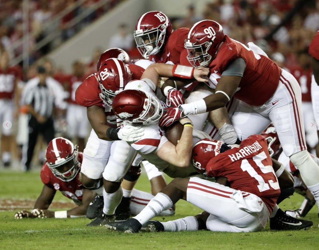 Hogs Stay Winless in SEC After Losing to Auburn, 52-20
