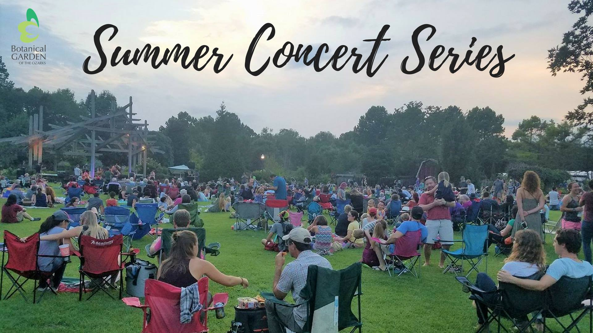Botanical garden of the ozarks announces free summer concert lineup fayetteville flyer for Botanical gardens concert series
