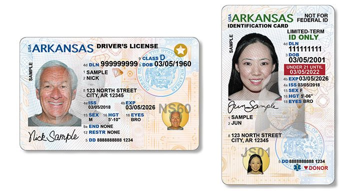 And State Licenses New Unveils Flyer Cards Id Driver's Fayetteville Arkansas