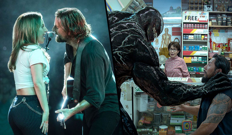 Venom' squares off with 'A Star is Born' at the weekend box