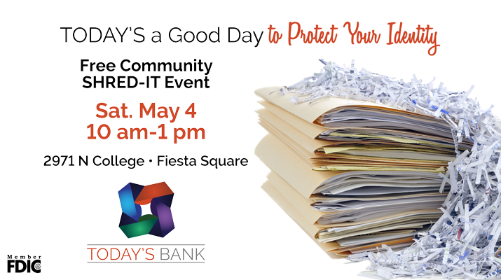 AD: Today's Bank Birthday Party & Community Shred-it® Event