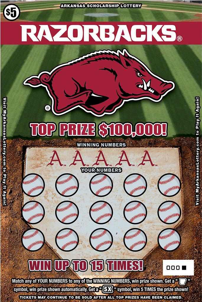 Arkansas Scholarship Lottery launches Razorback-themed