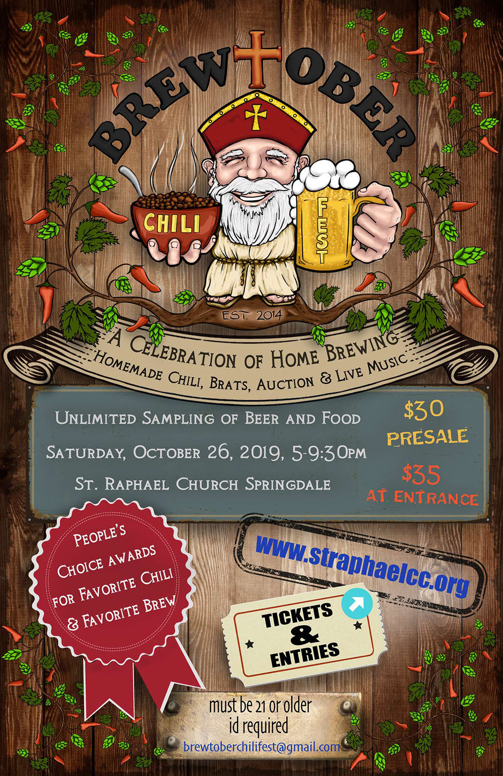 Brewtober chili and homebrew festival planned for Oct. 26 in Springdale